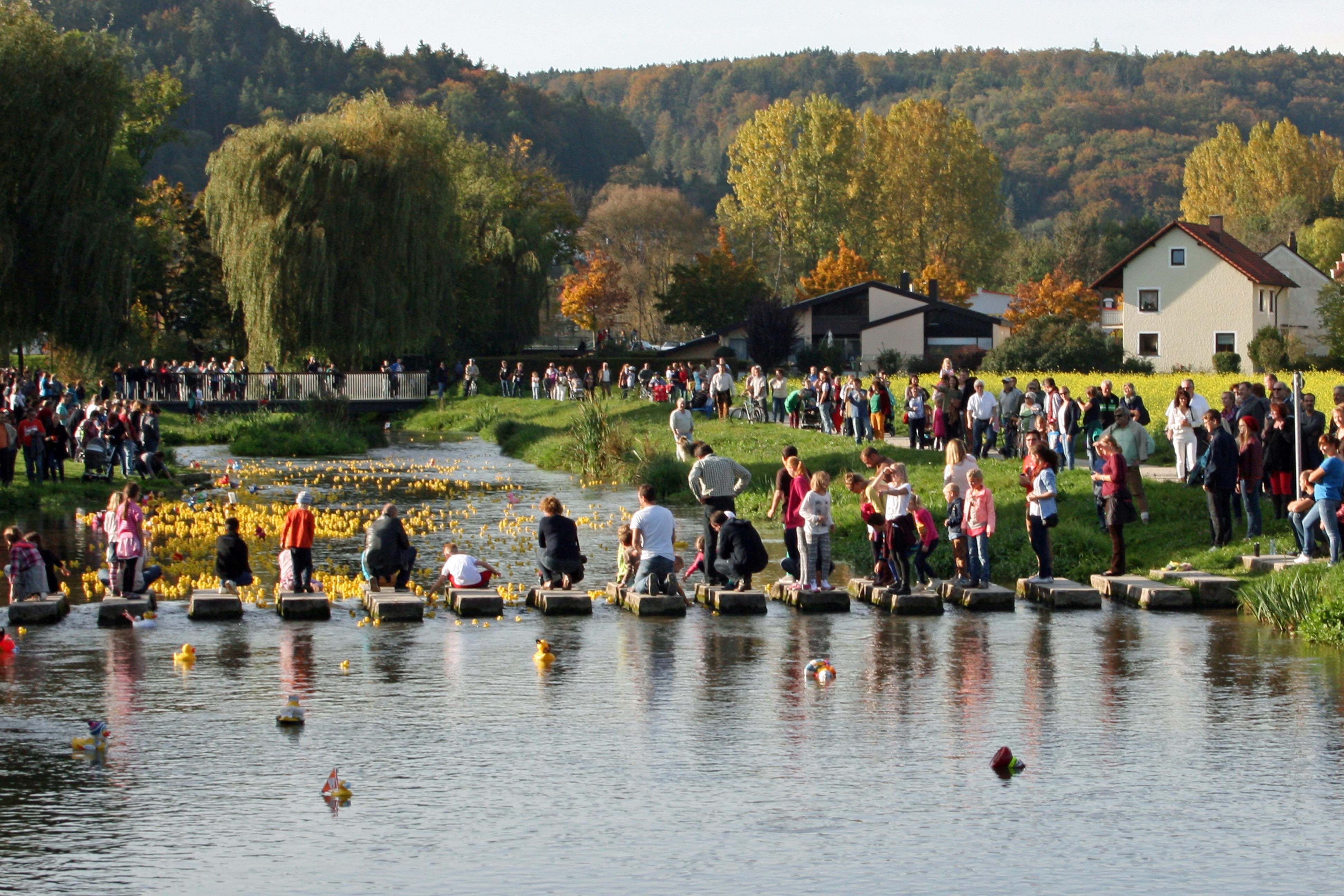 Das Beilngrieser Entenrennen im Sulzpark